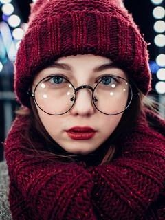 清纯邻家眼镜女孩性感写真图片壁纸