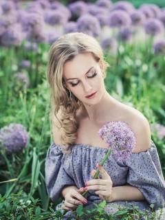 唯美森林美女图片写真壁纸