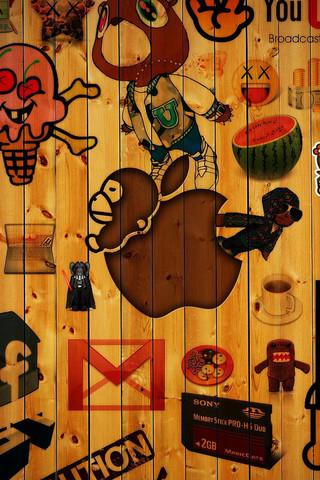 最新个性设计的苹果LOGO壁纸