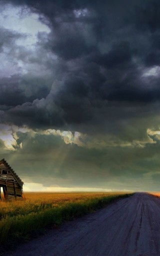 唯美意境乡间小路风光壁纸
