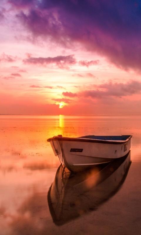 海边夕阳晚霞高清图片壁纸