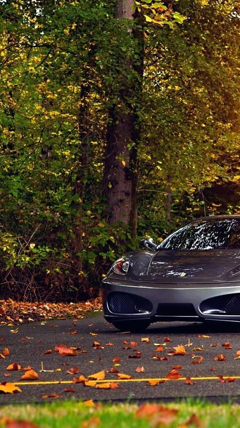 黑色超级跑车法拉利图片壁纸