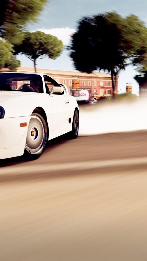 白色酷炫跑车图片桌面壁纸