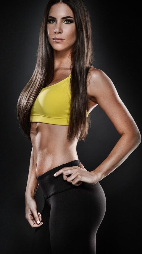 运动美女健身美照好身材遮不住2
