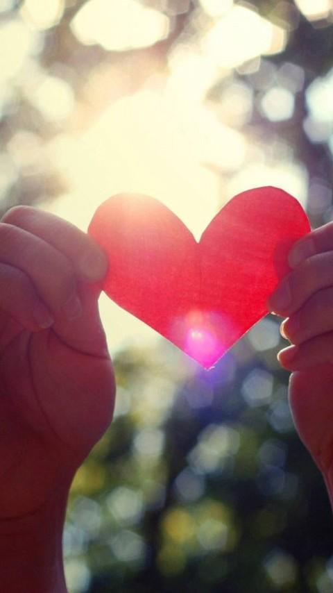 爱情主题唯美红色手机壁纸