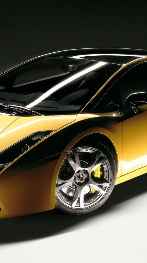 好看的黄色跑车图片壁纸