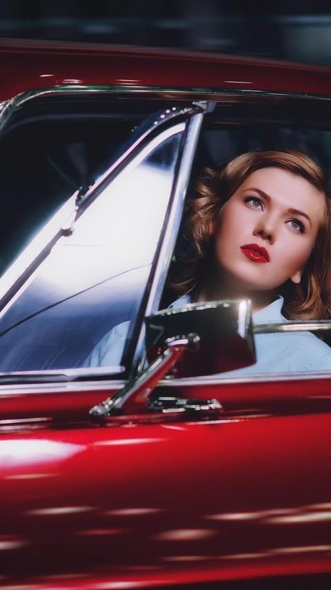 开老爷车的女人们图片大全