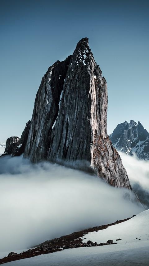 超唯美的雪山风景图片壁纸