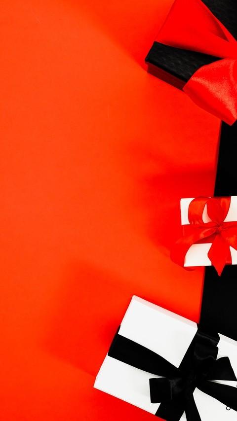 红色购物元素背景图片壁纸