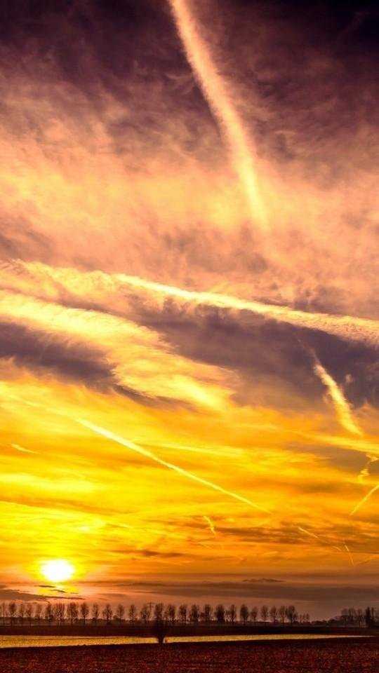唯美浪漫的夕阳天空风景图片壁纸