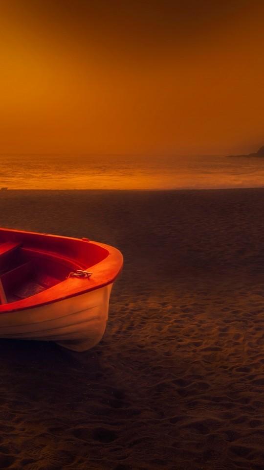 唯美水景船图片壁纸
