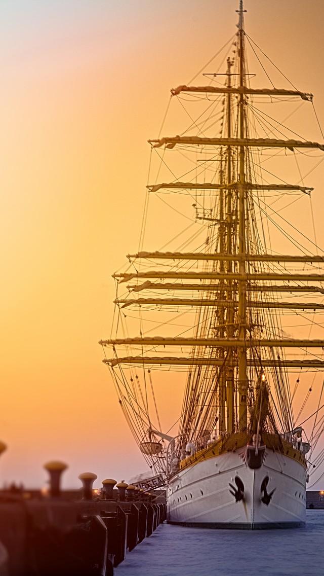 船唯美意境手机图片壁纸