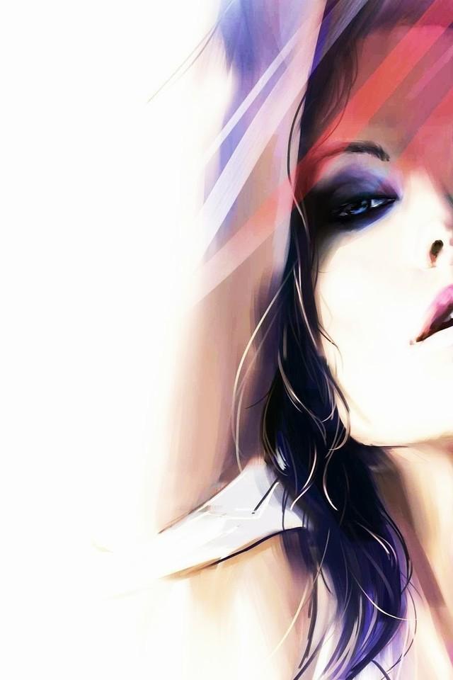 精选的绘画女生头像图片壁纸