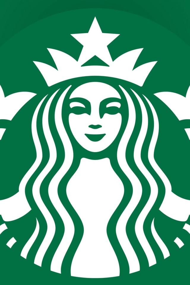 Starbucks星巴克LOGO手机壁纸