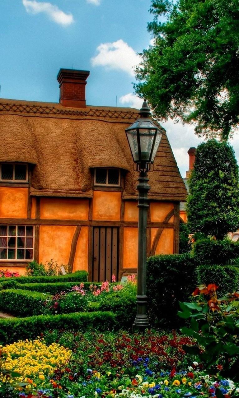 唯美花园别墅背景图片壁纸2