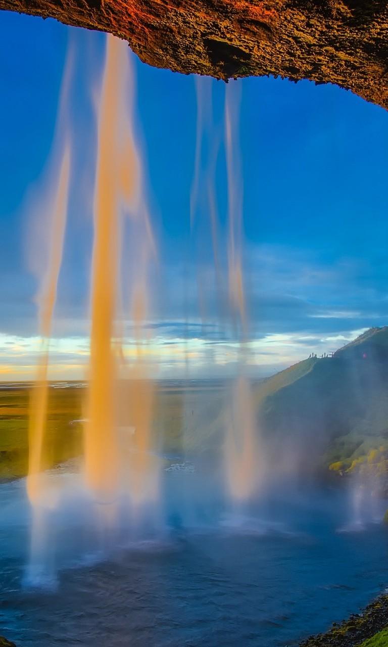 好看的瀑布山水风景图片壁纸