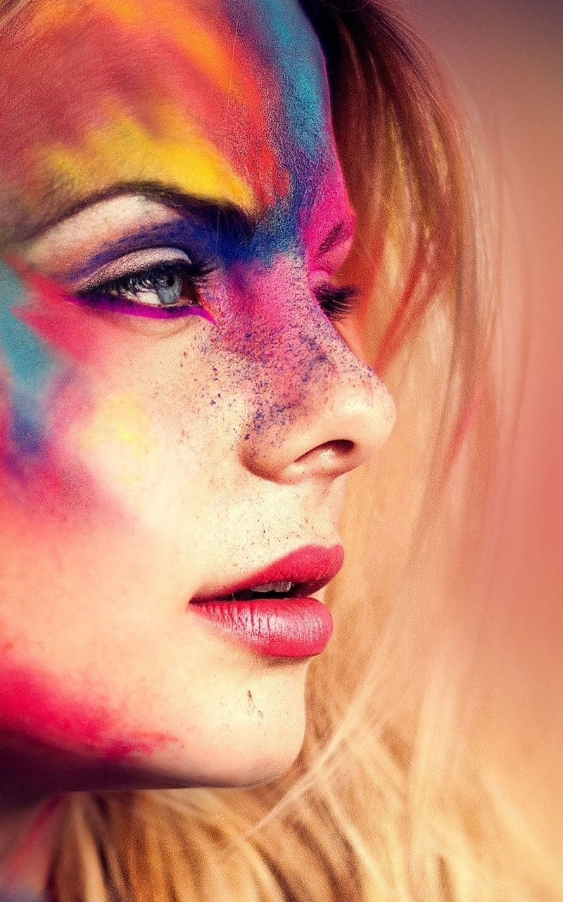 创意个性美女涂鸦图片壁纸